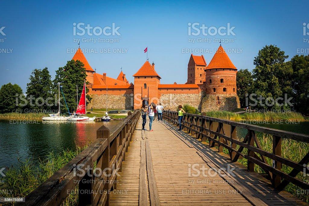 Trakai Island Castle, Lithuania stock photo