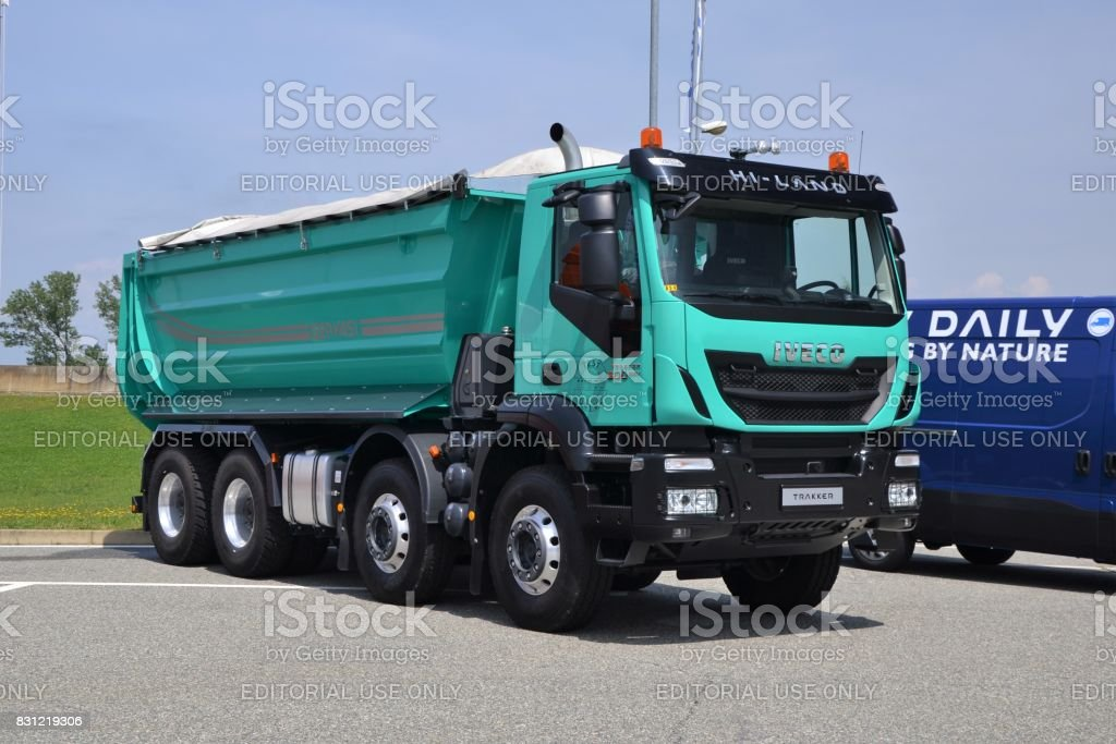 IVECO Trakker 500 on the parking stock photo