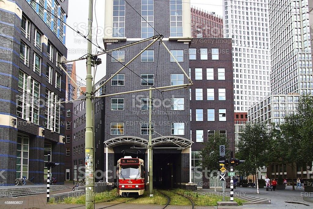 Tram 15. Hague royalty-free stock photo