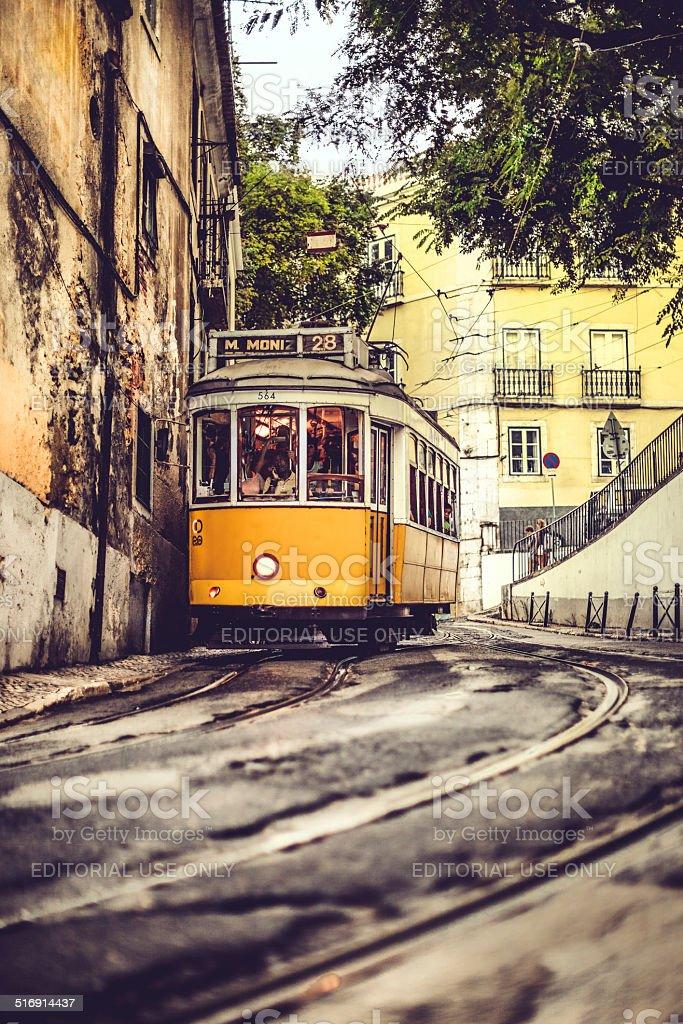 Tram 28 - Martim Moniz stock photo