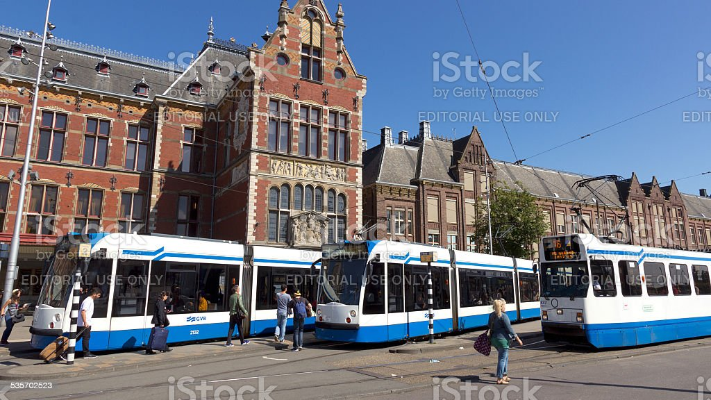 Tram Amsterdam stock photo