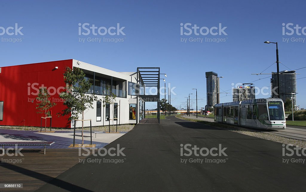 Tram at Melbourne royalty-free stock photo
