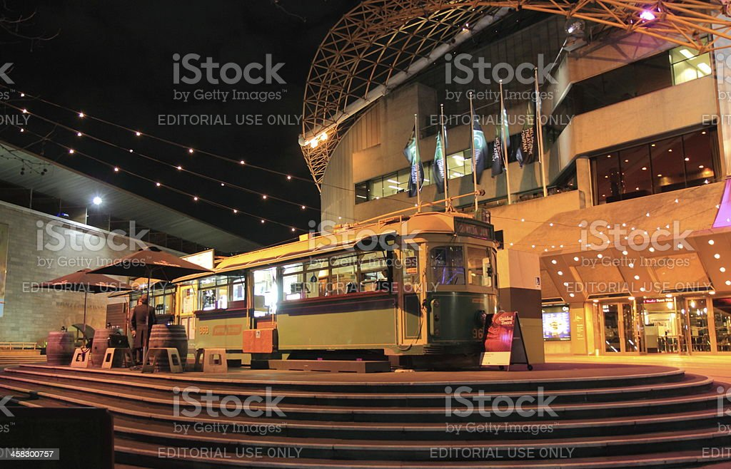 Tram bar Melbourne royalty-free stock photo
