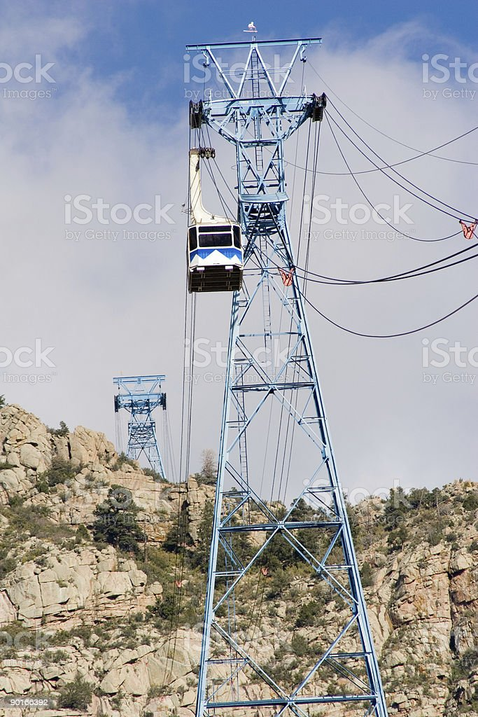 tram car and tower royalty-free stock photo