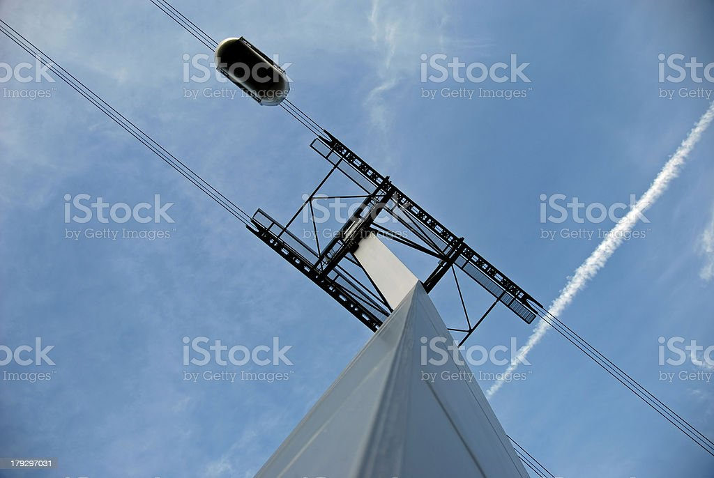 Tram from below royalty-free stock photo