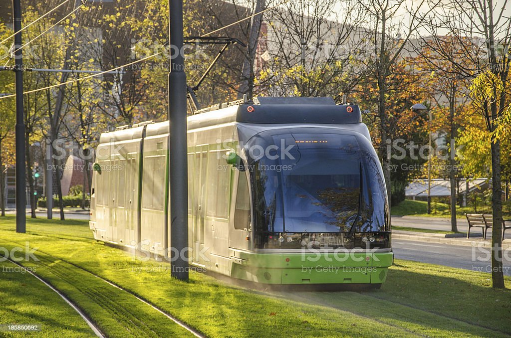 Tram in Bilbao. royalty-free stock photo