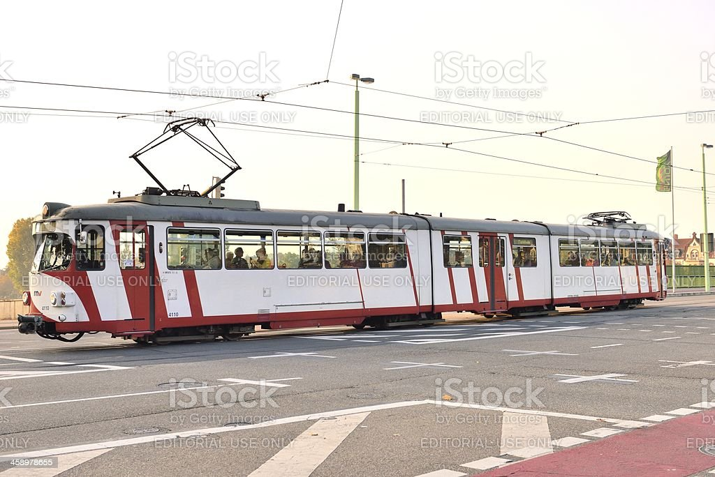 Tram in Heidelberg royalty-free stock photo
