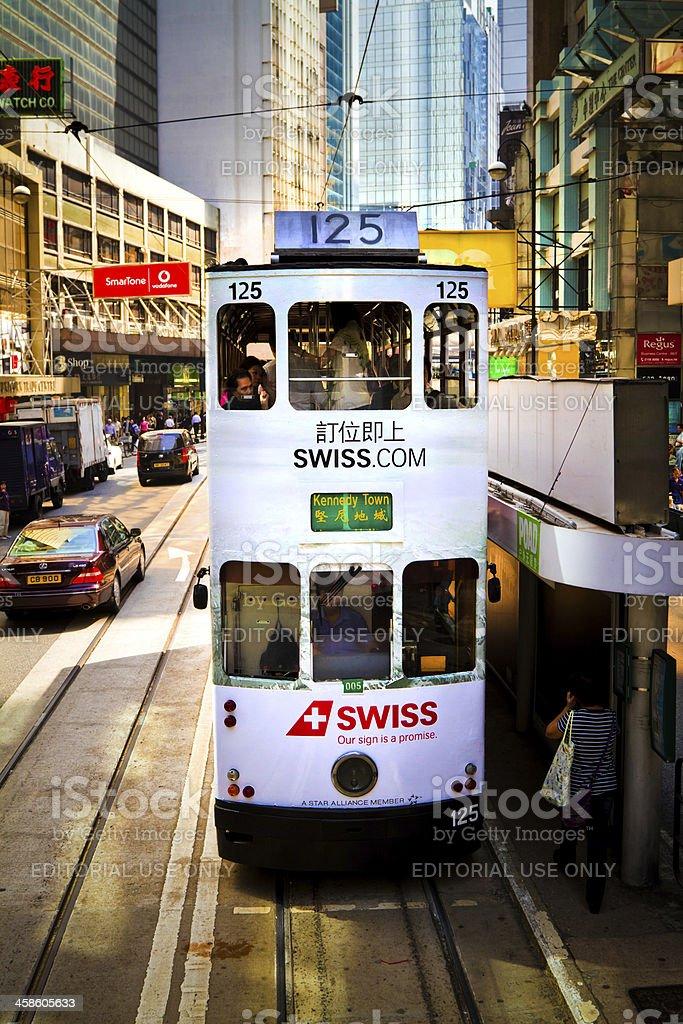 Tram in Hong Kong royalty-free stock photo