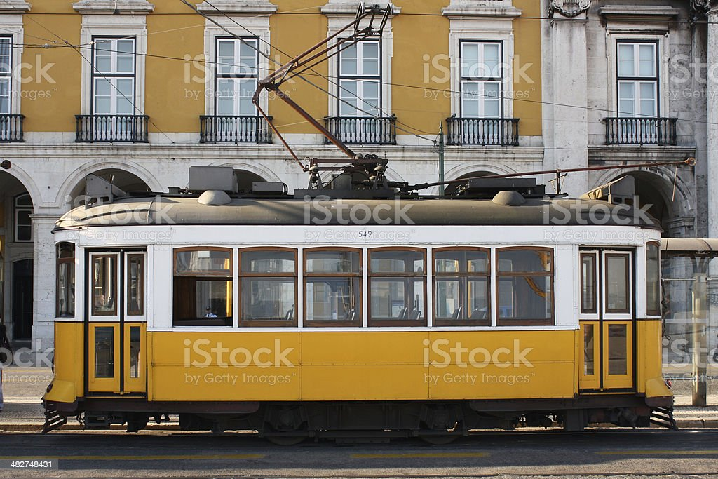Tram in Lisbon royalty-free stock photo