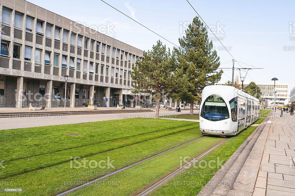 Tram in Lyon, France royalty-free stock photo