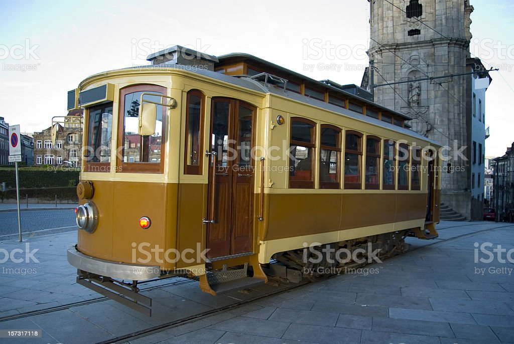 Tram in Porto royalty-free stock photo