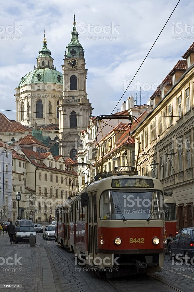 Tram in Prague royalty-free stock photo