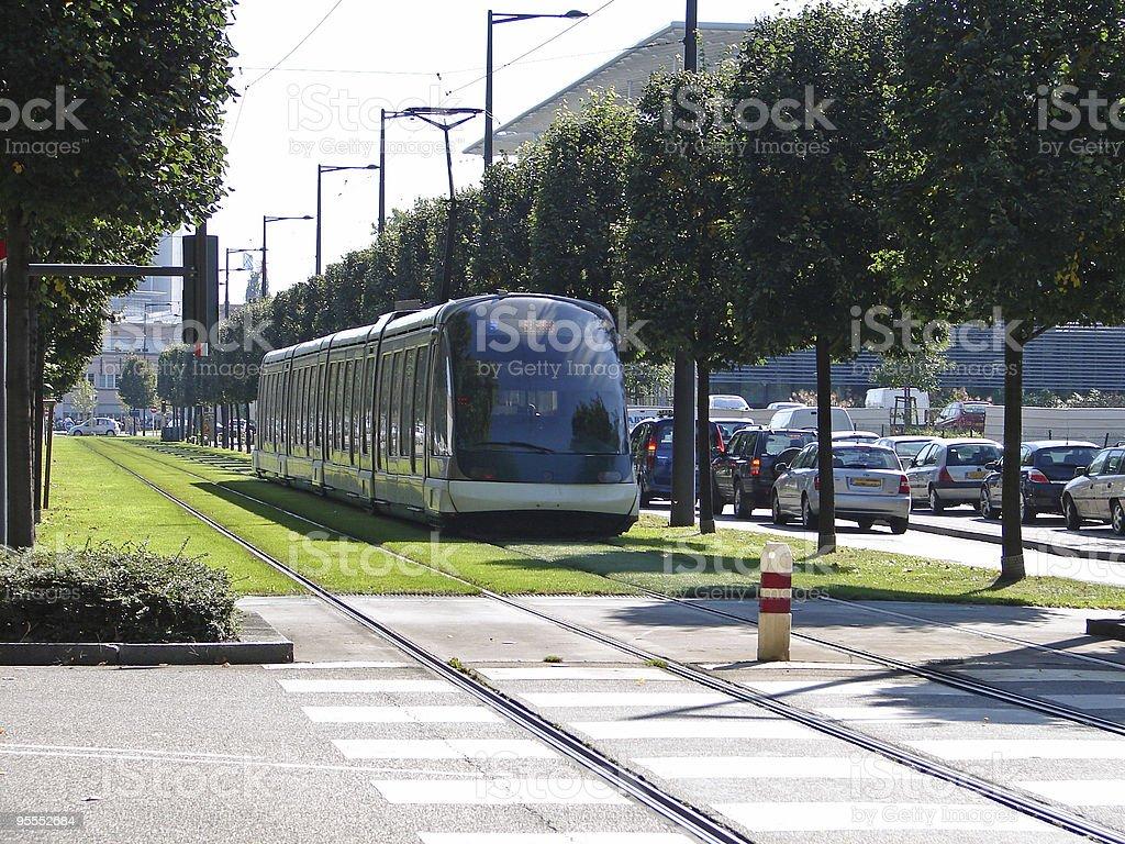 Tram in Strasbourg, France royalty-free stock photo