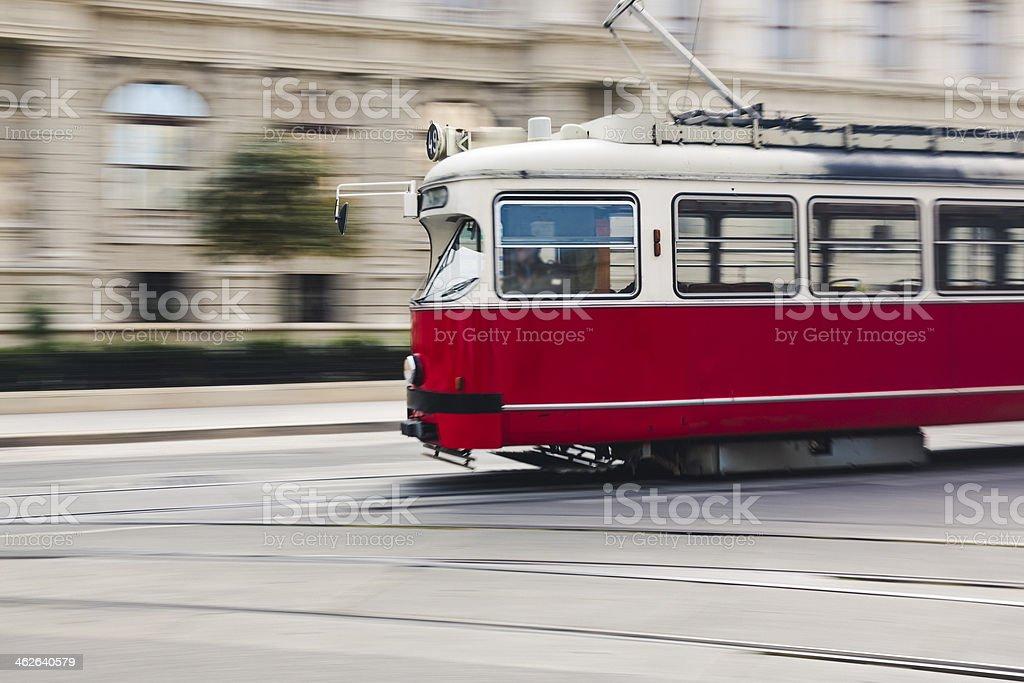 Tram in Vienna, Austria royalty-free stock photo