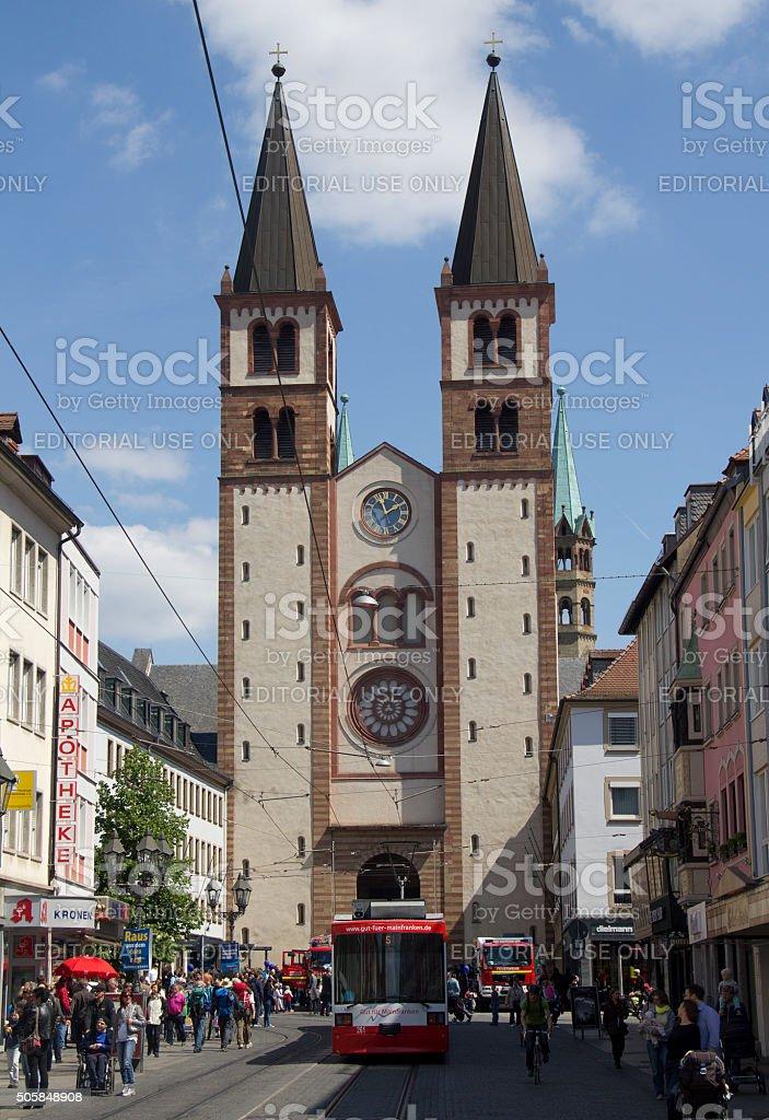 Tram in Wurzburg, Germany stock photo