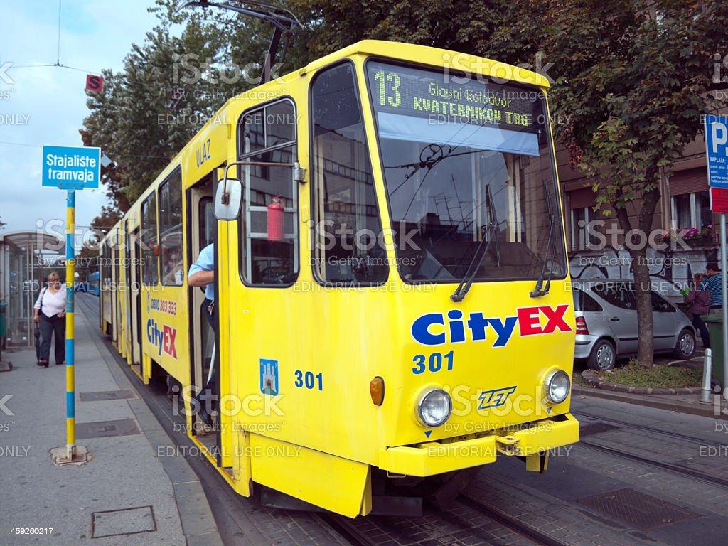 tram in Zagreb, Croatia royalty-free stock photo