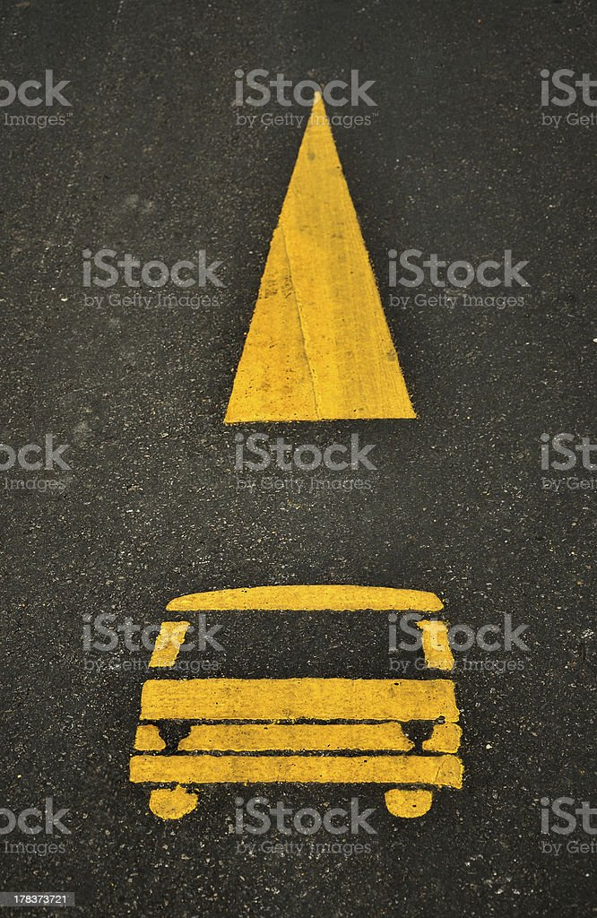 Tram Lane Symbol On The Road royalty-free stock photo