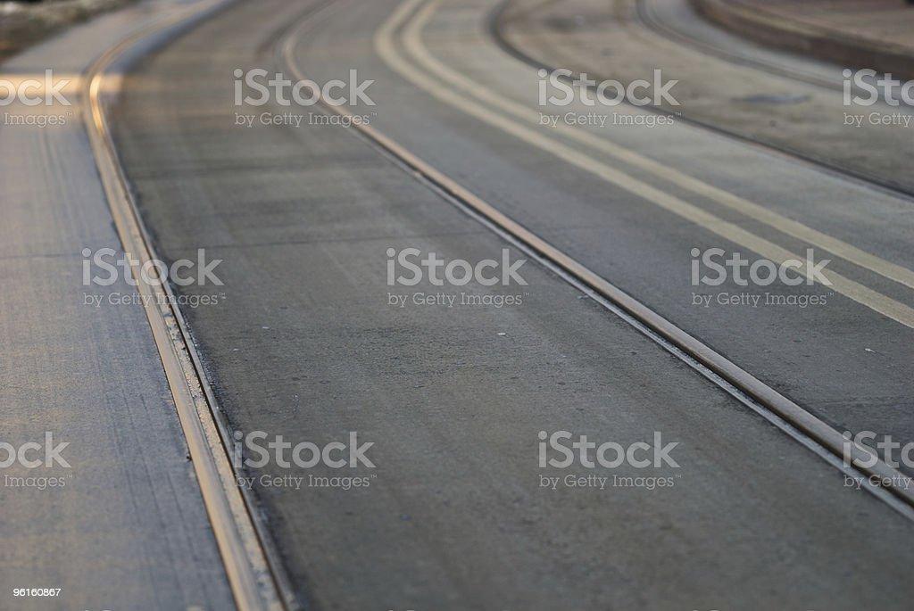 tram lines stock photo