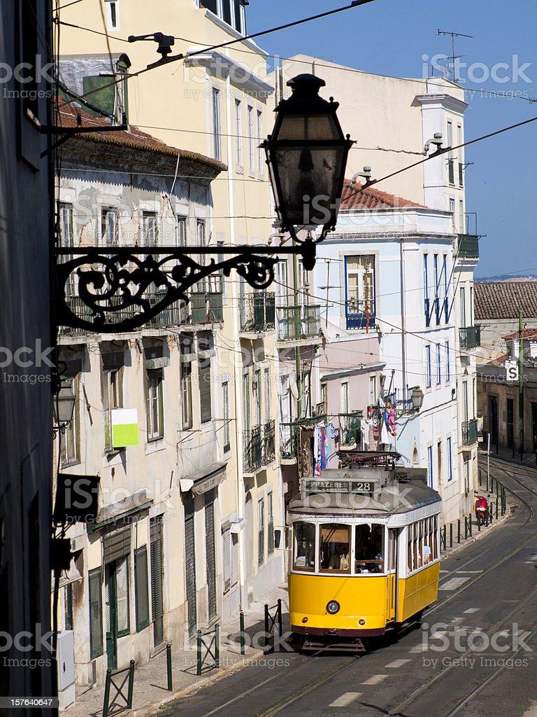 Tram, Lisbon, Portugal stock photo