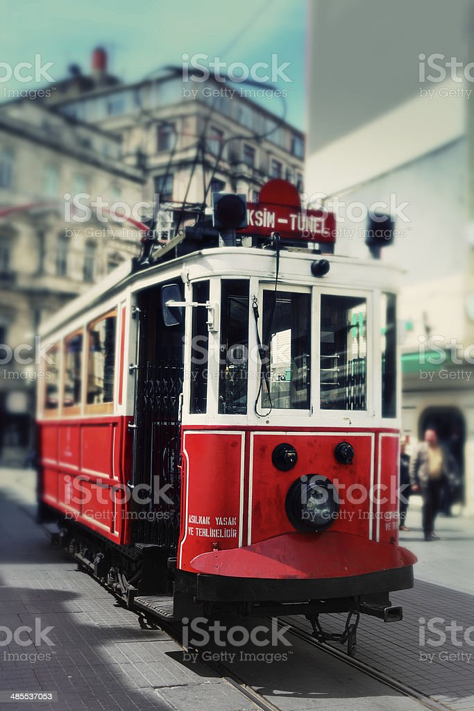 Tram on Istiklal Caddesi royalty-free stock photo