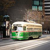 Tram on Market Street