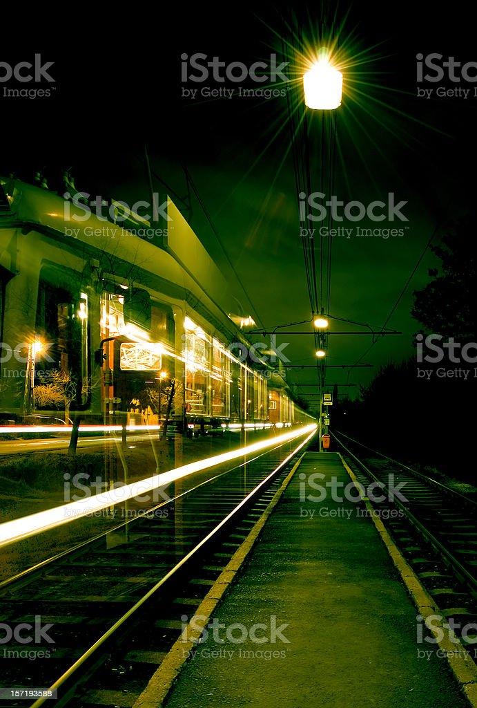 Tram stop royalty-free stock photo
