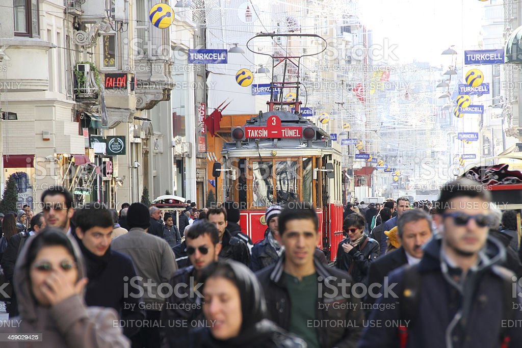 tram Taksim Istanbul Turkey royalty-free stock photo