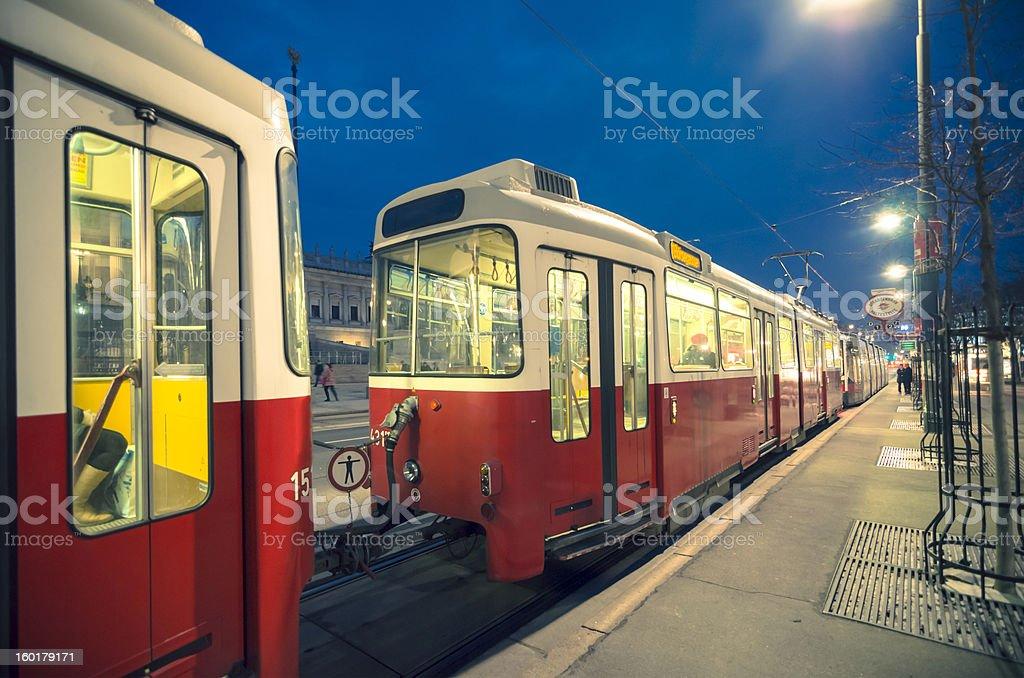 Tram Vienna stock photo