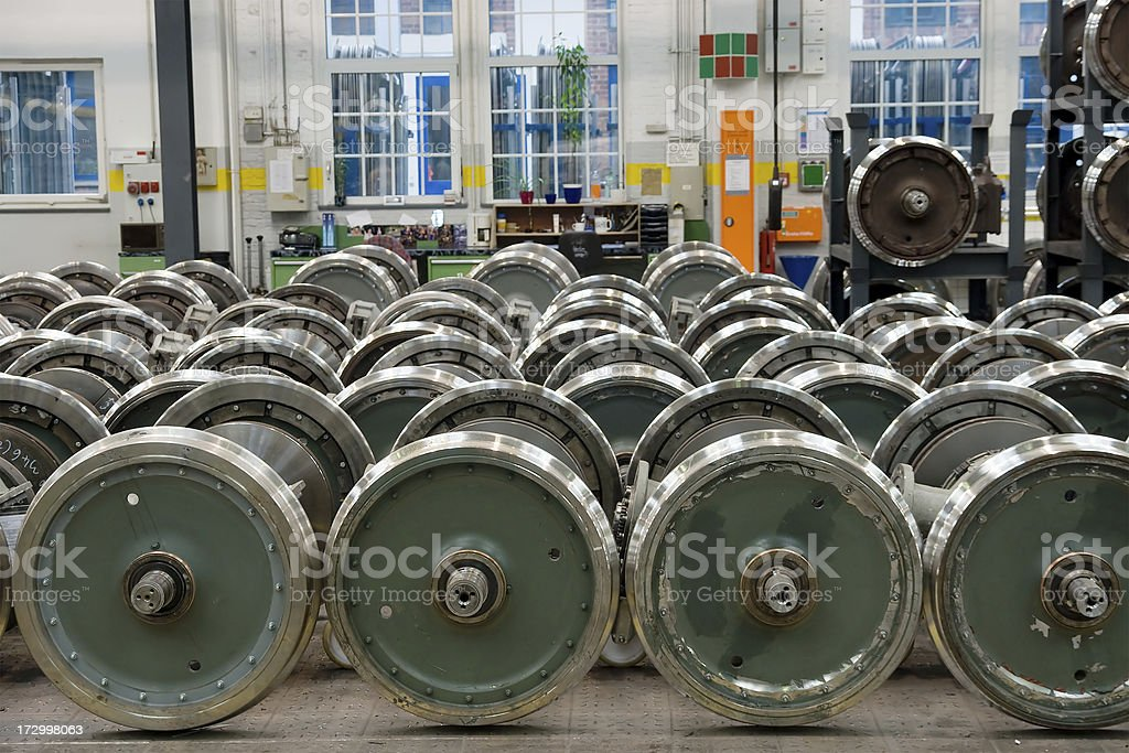 Tram wheels royalty-free stock photo