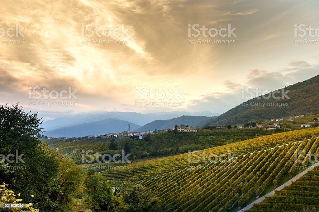 Tramonto a Santo Stefano (TV) stock photo