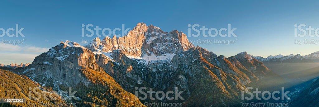 Tramonto sul Civetta stock photo