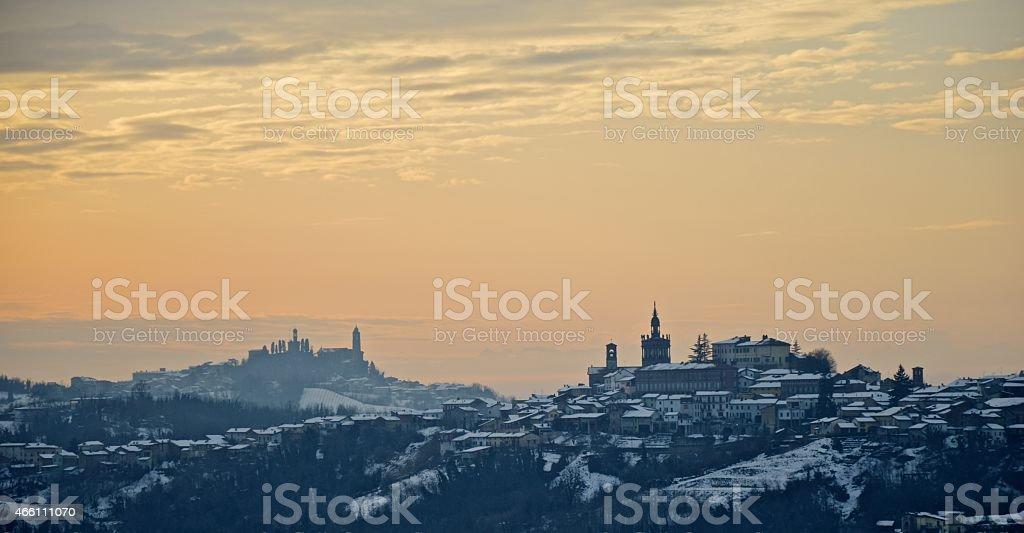 Tramonto sul Monferrato stock photo