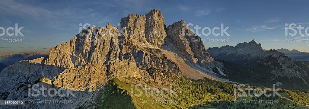 Tramonto sul Monte Pelmo (Dolomiti) royalty-free stock photo