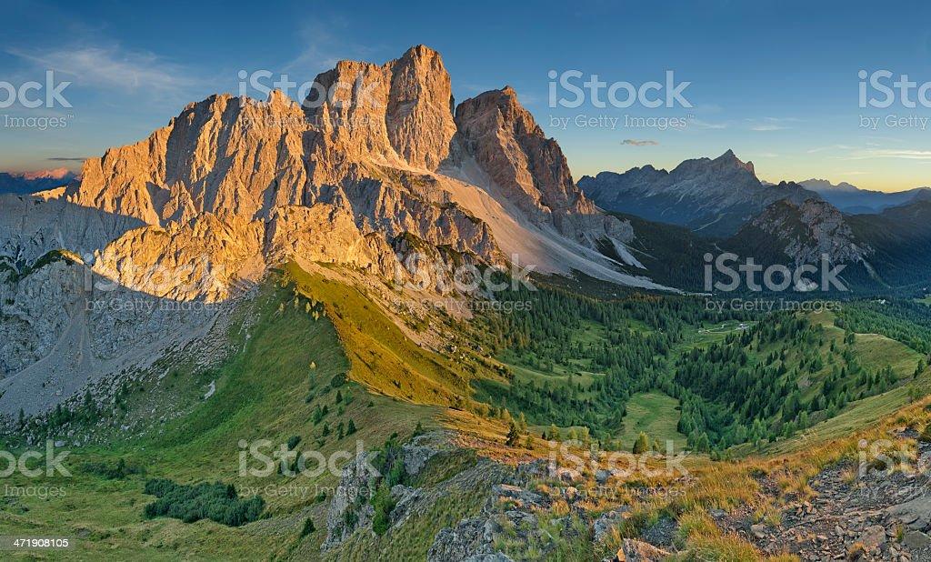 Tramonto sul Pelmo (Dolomiti) stock photo