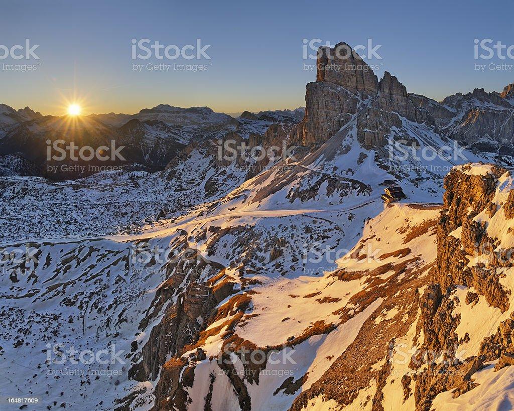 Tramonto Sulle Dolomiti stock photo