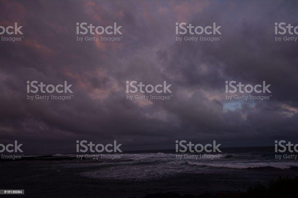 tramonto tempestoso stock photo