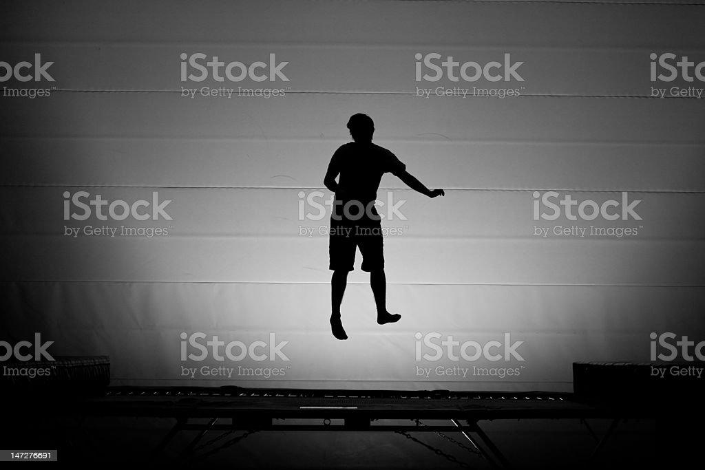 trampoline guy stock photo