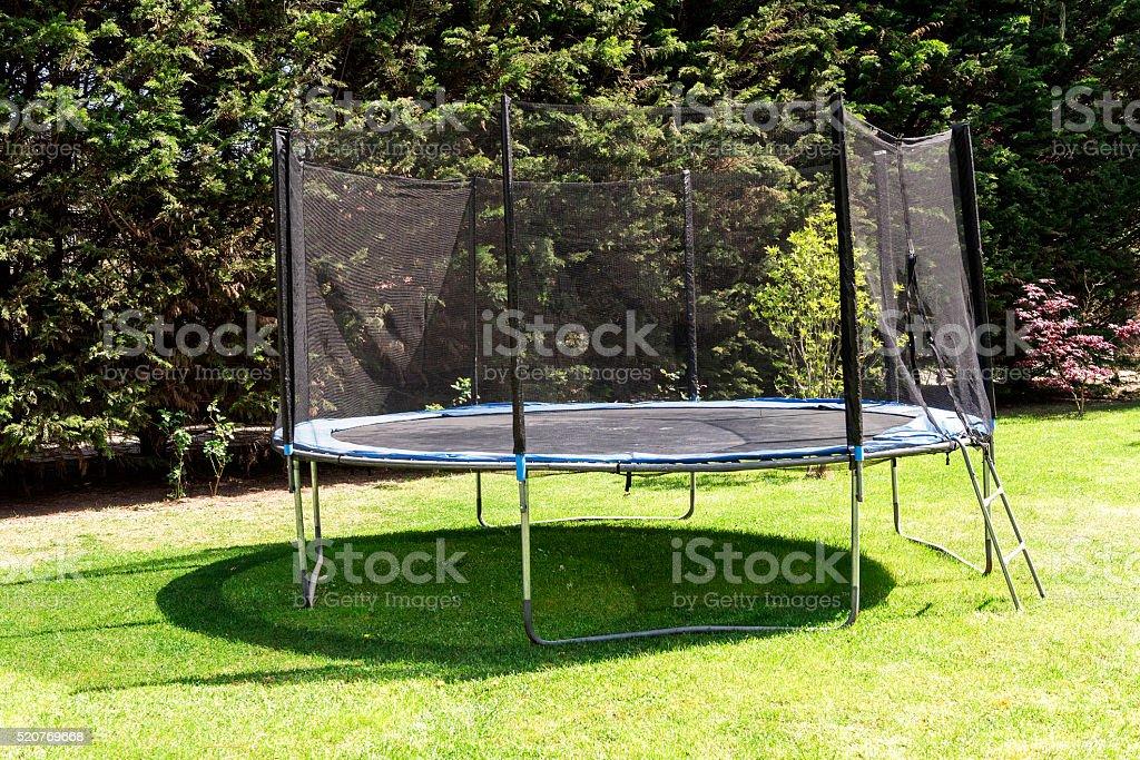 Trampoline stock photo