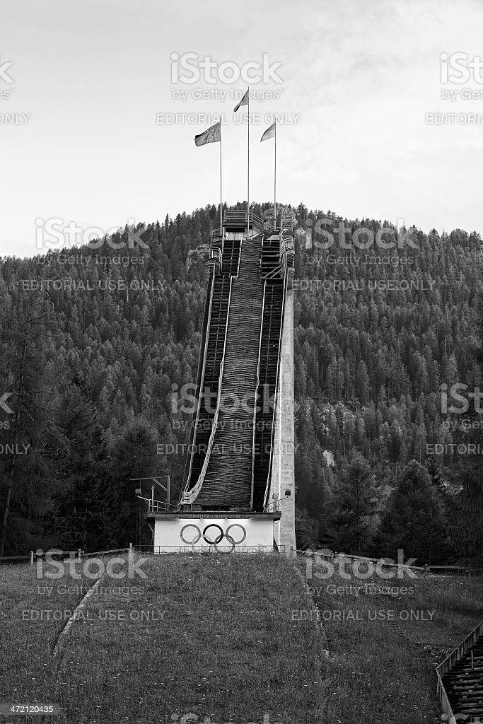 Trampolino Olimpico stock photo