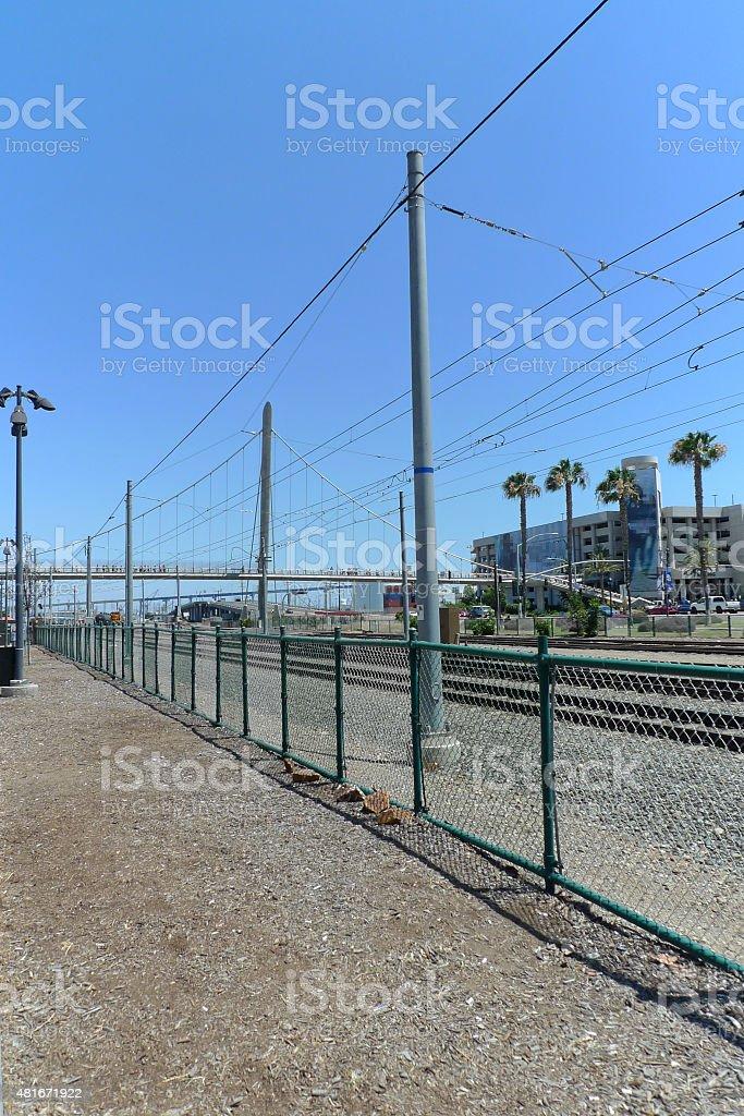 Tram/Train Railroad royalty-free stock photo
