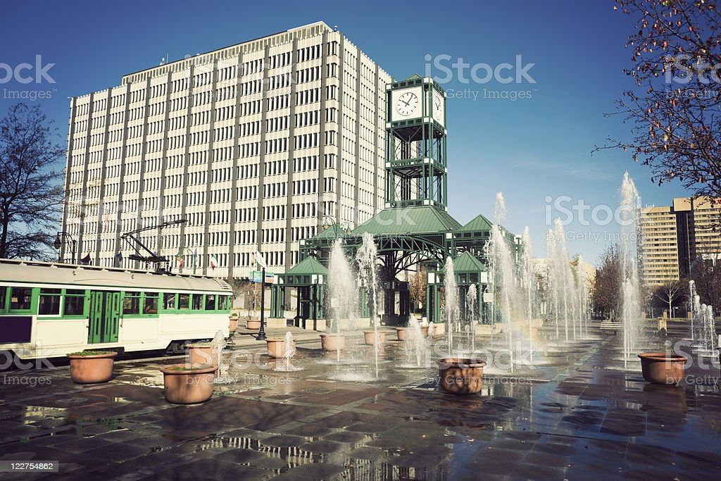 Tramway in Memphis stock photo