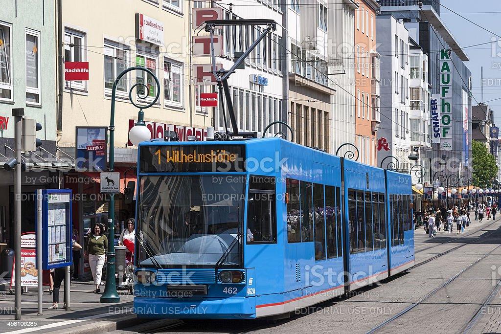 "Tramway on ""Obere Königsstrasse"", Kassel, Germany royalty-free stock photo"