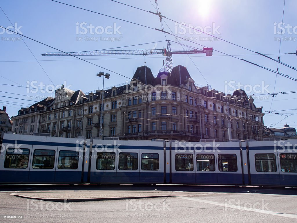 Tramway stock photo