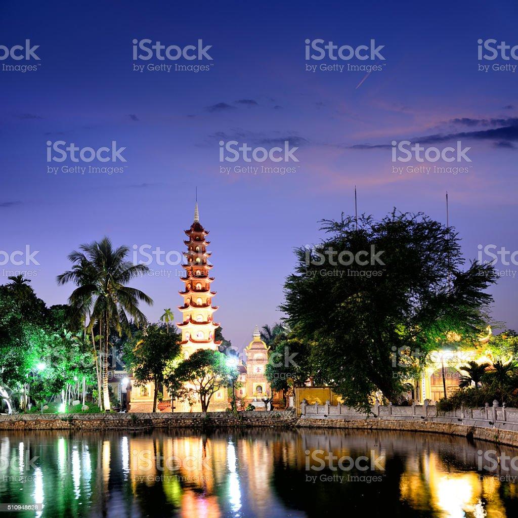 Tran Quoc Pagoda, Hanoi stock photo