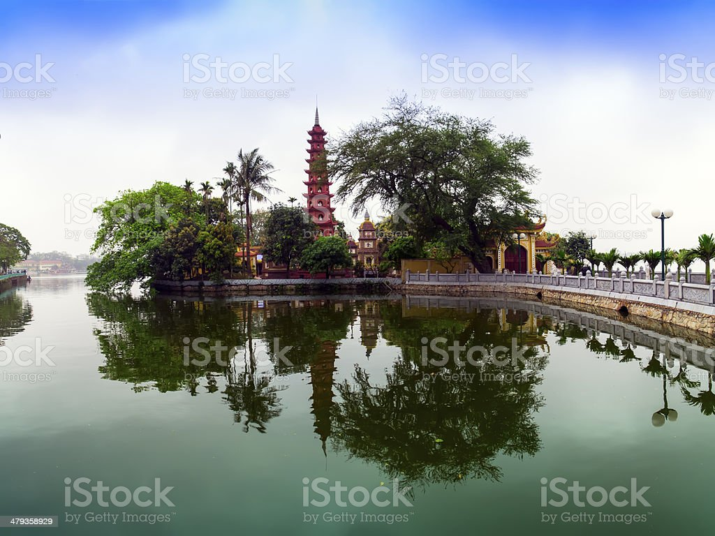 Tran Quoc Pagoda. stock photo