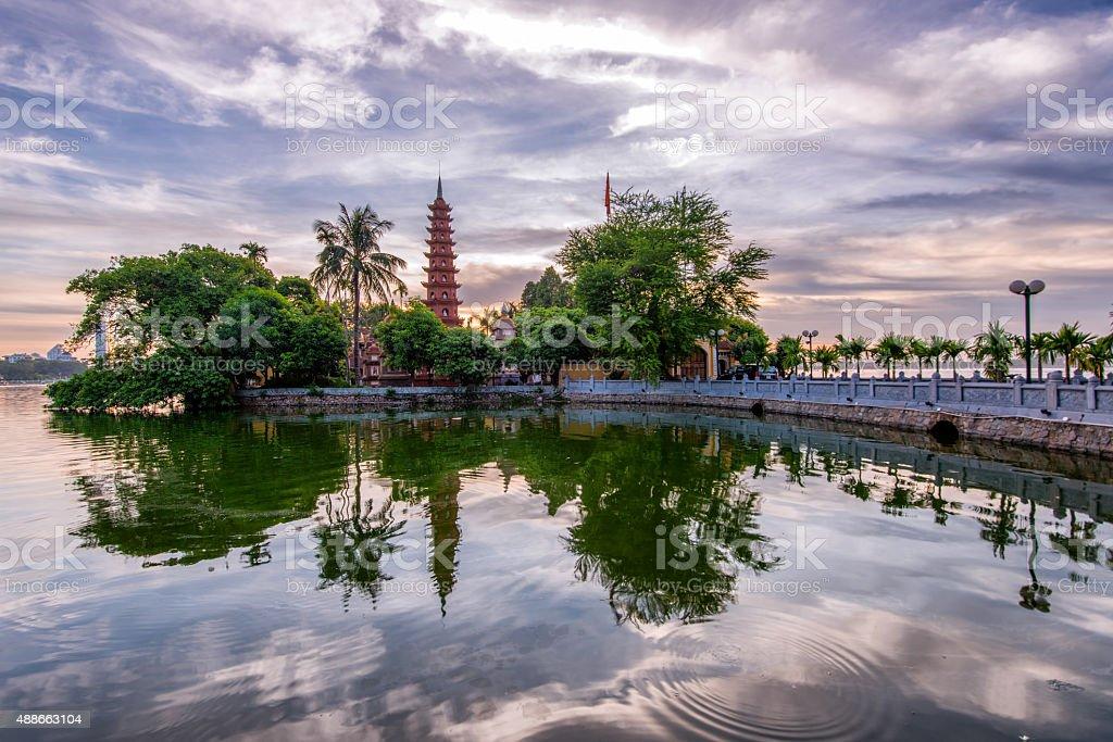 Tran Quoc Pagoda stock photo