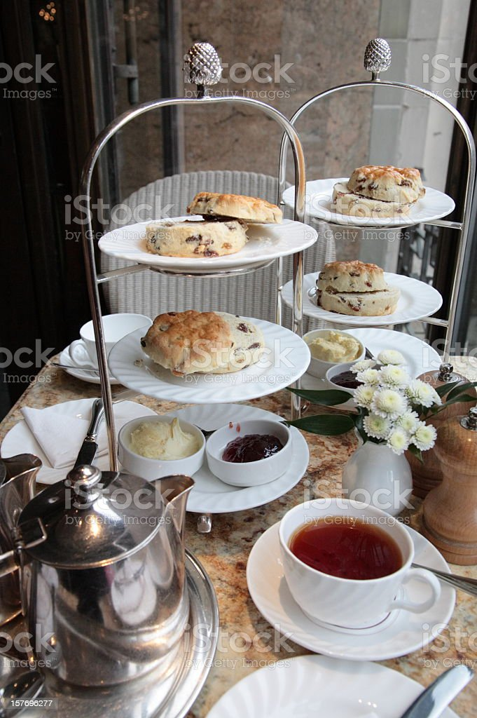 Tranditional english afternoon tea stock photo