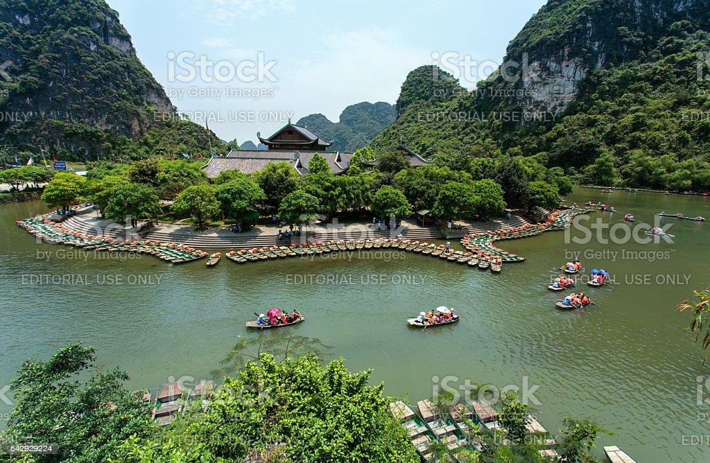 Trang An is a very popular tourist destinations in Vietnam stock photo