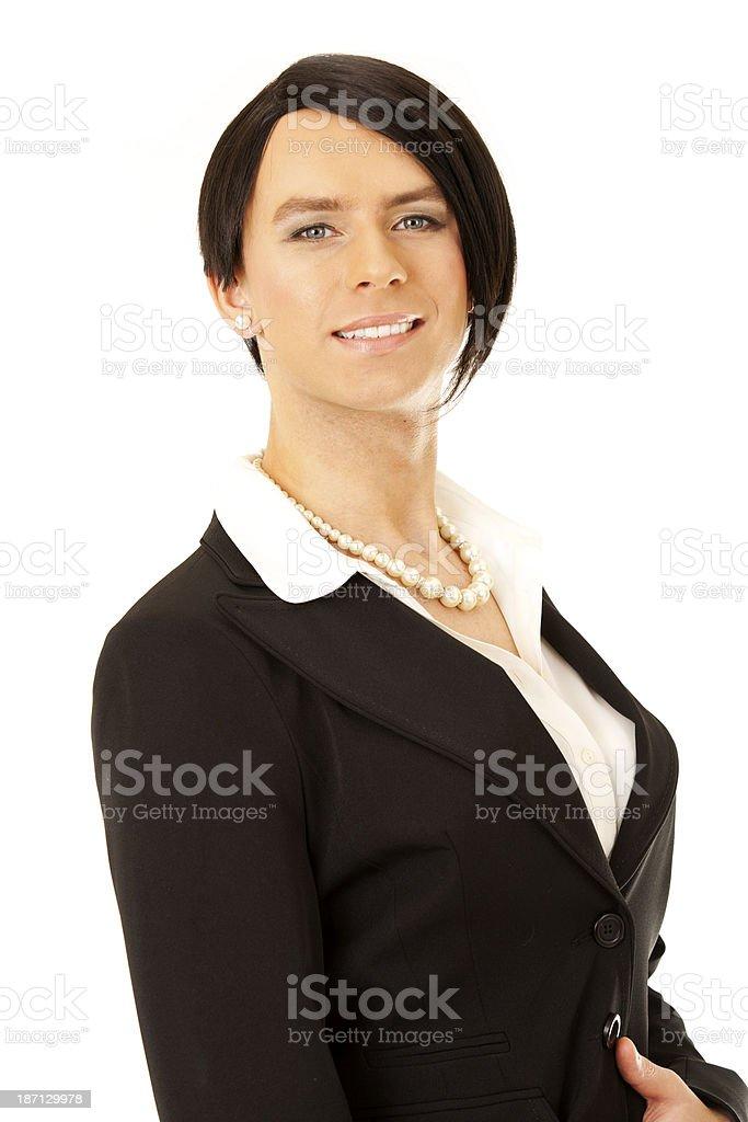 Trangender Businesswoman stock photo