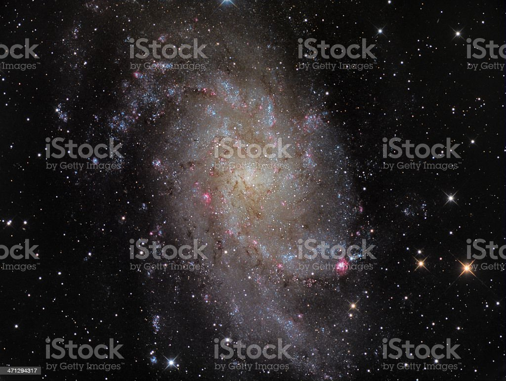 Trangulum Galaxy M33 stock photo